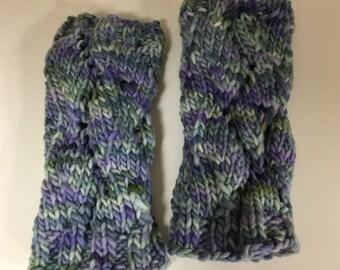 Handknitted Fingerless Mittens - Size M/L  (womens)