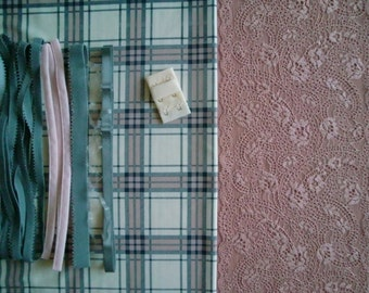 DIY Fabric and notions  Grey & Mauve Checkers for 1 BRA and BRIEF by Merckwaerdigh
