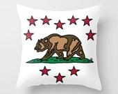 Cali Love Throw Pillow - California Pride - California Flag - I Love California - I Love Los Angeles - I Love L.A.