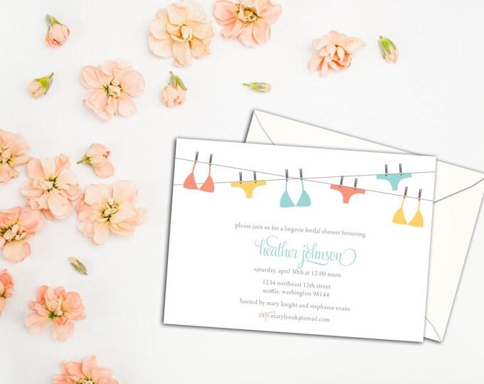 Lingerie Bridal Shower Invitation, Lingerie Event Invitation