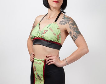 Zombie Pin Up Print Bra, Cami Top, Horror