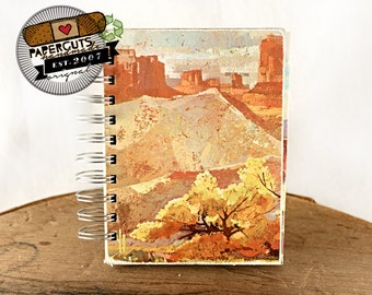 Desert Canyon - Wire-Bound Recycled Art Journal