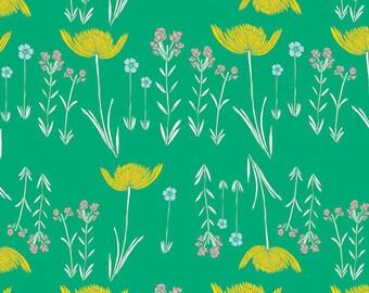 Savanna Glow Mint - Meadow - Art Gallery Fabrics - Leah Duncan - MW-80028 - Tulips Garden Green