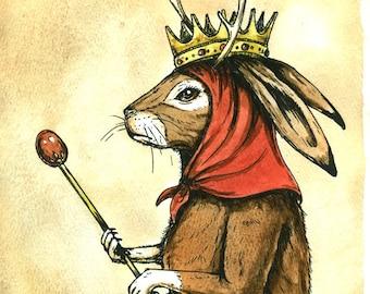Jackalope  Queen  (an original hand painted queen)