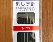Daruma sashiko needles hand sewing Japanese big stitch