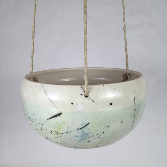 Large Handmade Ceramic Hanging Planter Indoor Hanging Planter