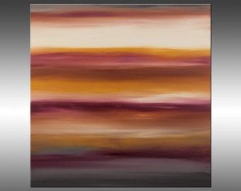 Sunset 39 - Abstract Landscape Painting, Original Modern Art Painting, Abstract Canvas Wall Art, Sunrise Sunset