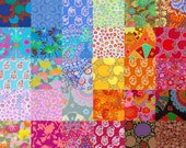 40 Different Kaffe Fassett Fabric Charm Square Pack - Prewashed, Rotary cut