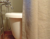 Pure Linen Shower Curtain, Bathroom, Home Decor, Natural Flax, 73x73