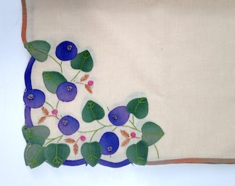 Applique Placements Vintage 60s Ombre Trim Blueberries