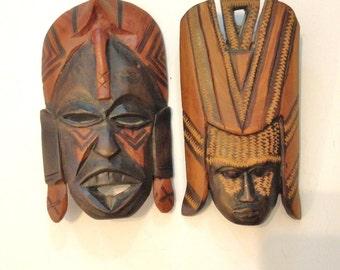 Kenya wood masks Kikuyu tribe carved wood mask *