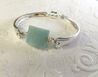Amazonite Spoon Handle Bracelet