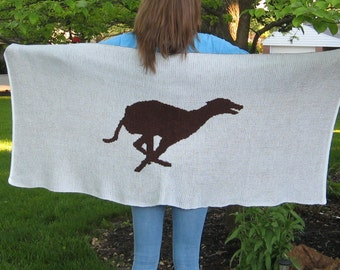 Personalized Knit Greyhound Wrap