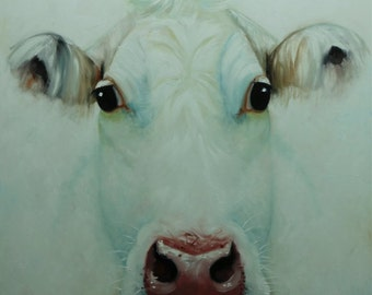 Cow painting 1155 36x36 inch animal original oil painting by Roz