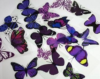 E13 Purple UNCUT Butterfly pack - 20 per pack - scrapbooking, card making, crafts
