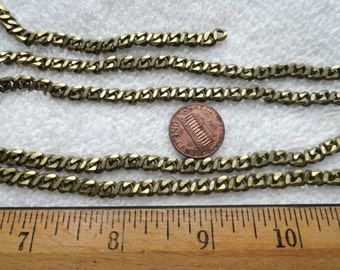10 Feet of Vintage Brass Figure 8 Curb Chain, Lays Flat, 5mm x 9mm,