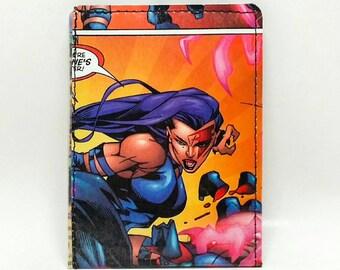 Sewn Comic Book Wallet - X-Men - Psylocke