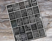 Chalkboard Planner Stickers - Chalkboard Planner Printable - Print at Home - Fits Erin Condren Life Planner - Chalkboard Printable - Digital