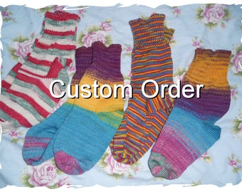 Custom socks knitted in YOUR yarn