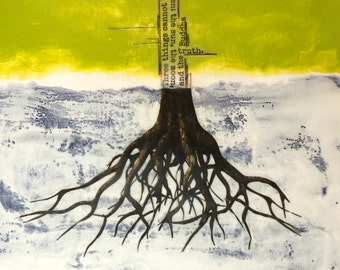 original encaustic mixed media painting-the Truth