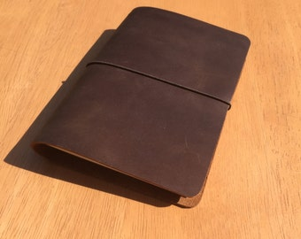 A6 Traveller's Notebook - Fauxdori - Midori Style - Choice of 18 Colours