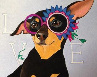 Custom Pet Portrait 10x10