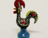 Galo Barcelos Portuguese rooster charm jewelry