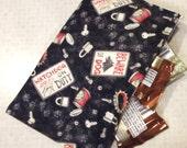 Reusable cloth snack sandwich napkin bag set - Beware of Dogs 3 pcs