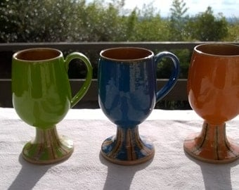Vintage 60s Baldelli Italian Coffee cups, Coffee Mugs, Mod Colors, Bright 60s colors, Pop, Mod, Bright set of 3 as is