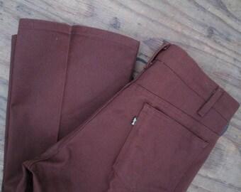 Brown Sta Prest Flared Levis Jeans Vintage 517 Levis Boot cut 70s Flare Vintage denim jeans cotton US made Levis Boyfriend Levis Jeans 34 29
