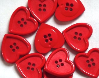 Red Heart buttons, 23mm x 2