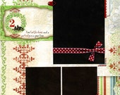 Two Turtle Doves - 12x12 Premade Christmas Page