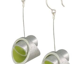 Lime Green Modern Kandinski LM Earrings