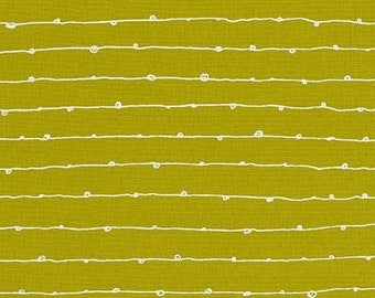 Blueberry Park fabric, Green fabric, Karen Lewis Textiles, Best Seller, Stripe fabric, Libs Stitches in Pickle, Choose your cut