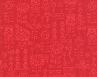 Red Riding Hood Fabric, Fabric by the Yard, Stacy Iest Hsu, Novelty fabric, Kids fabric, Grandmothers Wallpaper Red, Craft, Choose the Cut