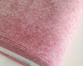 Essex Linen, Essex Yarn Dyed, Apparel Fabric, Quilt fabric, Cotton fabric, Linen Blend fabric, Linen fabric, Robert Kaufman, Essex in Red