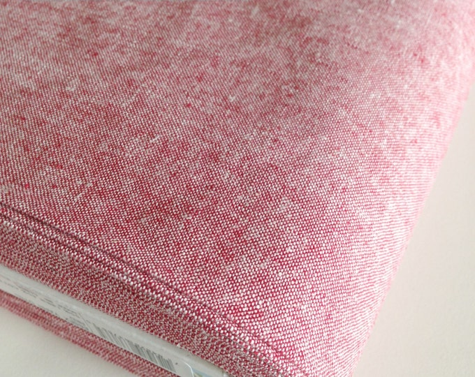 Essex Linen, Essex Yarn Dyed, Apparel Fabric, Quilt fabric, Cotton fabric, Linen Blend fabric, Linen fabric, Robert Kaufman, Essex in Red