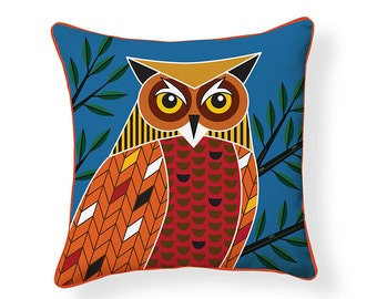 Foreset Owl Pillow