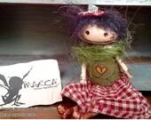 "Primitve art doll accessory BJD prop miniature creepy cute ""Elly"" party favor"