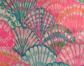 "multi oh shello dobby cotton fabric square 18""x18"" ~ lilly resort 2015 ~ lilly pulitzer"