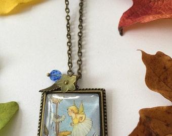 Dandelion flower fairy necklace