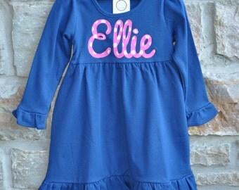 SASSY DOT -  Monogram Personalized Dress - 12m-8 years  - Julianne Originals