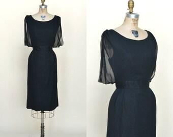 30% OFF Black Cocktail Dress --- Vintage Elinor Gay Dress