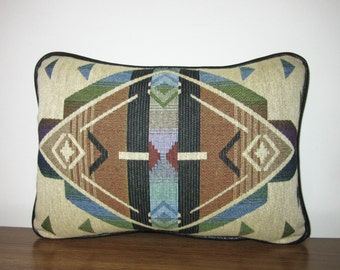 Southwest Diamonds Tapestry Pillow Decorator Soft Comfy Textured Cabin Lodge Decor Tribal Inspired