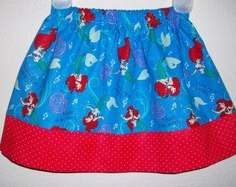 2t Girls Skirt Ariel Little Mermaid dress Kids Clothes Under the Sea Ocean toddler