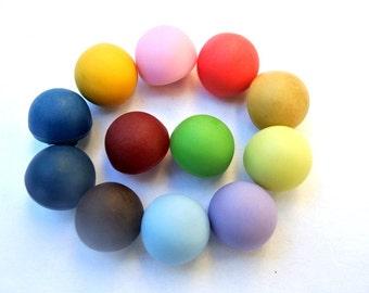 SALE-252 Antique vintage plastic buttons, 12 colors, mushroom shape 12mm, 10mm height, UNIQUE