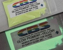 Glow in the Dark Glass Powder, Yellow Glow Pigment, no COE