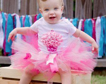 First Birthday Outfit Girl Baby Girl 1st Birthday Outfit 1st Birthday Girl Outfit Pink Cake Smash Outfit Personalized Birthday Tutu Dress