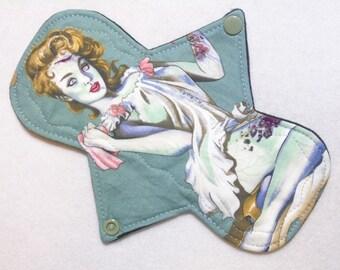 """8"""" Heavy Zombie Diva - Reusable Cloth Menstrual Pad (8HC)"""