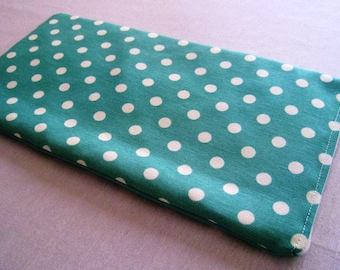 Polka Dots on Teal - Apple Magic Keyboard Sleeve,Apple Keyboard Case, Samsung Wireless Keyboard Sleeve - Padded and Zipper Closure